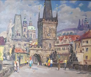 Charles Bridge Old Town Side - Pavel Yachine 1920