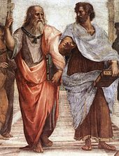 Plato (left) and Aristotle (right) from The School of Athens by Raffaello Sanzio.